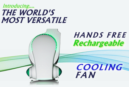 Personal Cooling System Rechargeable Portable Clip On